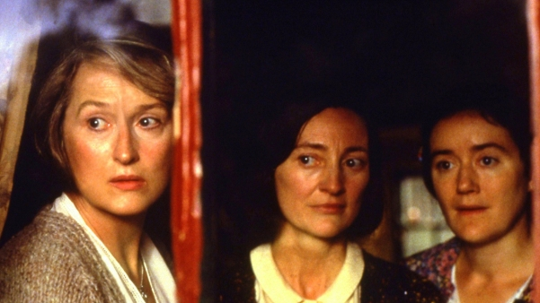 Meryl Streep, Bríd Brennan, and Sophie Thompson in the 1998 film adaptation of 'Dancing at Lughnasa'