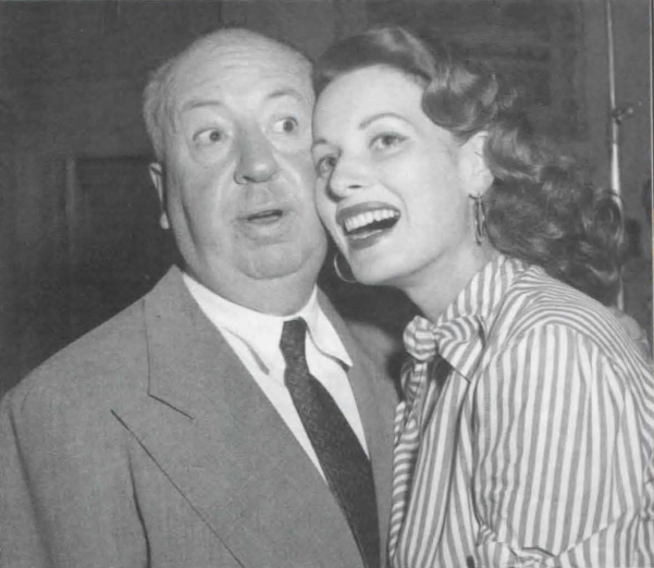 O'Hara with Alfred Hitchcock, her first director
