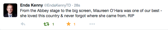 A tweet of remembrance from Taoiseach Enda Kenny
